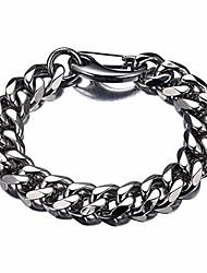 cheap -silver cuban link chain men's bracelets hip hop miami 15mm heavy stainless steel curb rapper bracelets for men