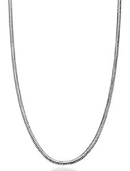 cheap -925 sterling silver italian 1.5mm, 2mm, 2.5mm round snake chain necklace for women men 14, 16, 18, 20, 22, 24, 26, 30 inch made in italy (14, 2mm)