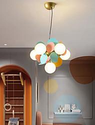 cheap -6 Heads LED Pendant Light Modern Nordic Globe Desgin Living Room Bedroom Metal Painted Finishes 35cm 110-120V 220-240V