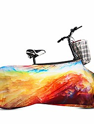cheap -indoor mountain bike cover bicycle storage cover, bike wheel cover, indoor anti-dust bike storage bag for tires of 26-28 inches wheel pant chains garage elactic hood (colofull clonds)