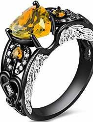 cheap -black gold plated angel's heart november ring (11)
