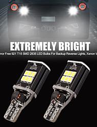 cheap -2Pcs Super Bright SMD LED Bulbs for Car Reverse Backup Brake Tail Lights LED T15 Car Tail Bulb Brake Light Auto Backup Reverse Lamp White Light