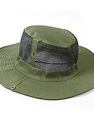cheap -men cap outdoor camping fishing sun protection boonie bucket hat wide brim (b)