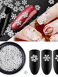 cheap -1 pcs New Nail Art Jewelry Wholesale White Snowflake Computer Film Ultra-thin Sequin Christmas Snowflake Series
