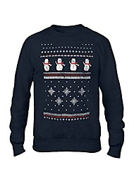 cheap -mens christmas snowman sweatshirt-lightweight alternative to a christmas jumper - navy (xl)