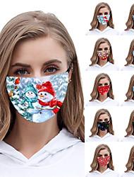 cheap -5 pcs Christmas Masks Life Outdoor Sports Masks Men And Women Christmas Day Printing Breathable Masks