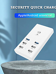 cheap -WINHOW Smart Charger For iPhone Samsung Huawei Xiaom Portable 6 Port USB HUB Adapter Charging Station
