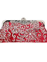 cheap -Women's Bags Corduroy Evening Bag Crystals Sequin Embellished&Embroidered 2020 Party Daily Black Red Almond Champagne