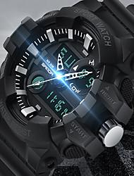 cheap -SANDA Men's Digital Watch Digital Sporty Water Resistant / Waterproof Analog - Digital Rose Gold Black+Gloden White / One Year / Rubber / Japanese