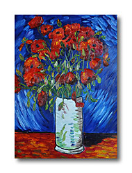 cheap -100% Hand Painted Oil Paintings Van Gogh Oil Paintings Canvas Modern Stretched Abstract Flowers Artwork Ready to Hang