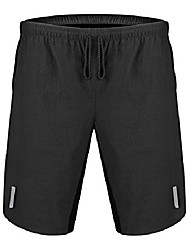 "cheap -aero tech big man's 8"" inseam mtb mountain bike padded cycling shorts - made in the usa (4xl) black"