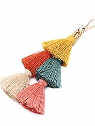 cheap -tassel pom pom key chain colorful boho charm key ring, fashion accessories for women (n-color)