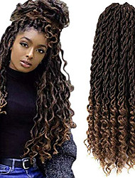 cheap -7pack faux goddess locs crochet hair extensions, synthetic xpressions braiding hair, deep wave fiber hair with curly ends (20inch, t1b/27#)