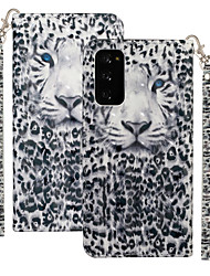 cheap -Case For Motorola MOTO One Vision / MOTO one action / Moto G8 Plus Shockproof Full Body Cases Animal PU Leather / TPU