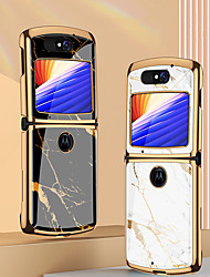 cheap -Case For Motorola Razr 5G Shockproof Plating Back Cover Lines Waves Geometric Pattern Tempered Glass Metal
