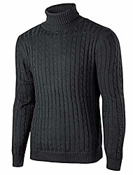 cheap -mens jumpers turtleneck knitted pullover jumpers plus cashmere ribbed slim fit high roll neck classic sweater knitwear black