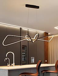cheap -80 cm LED Pendant Light Modern Nordic Black Gold Island Light Dining Room Restaurant Bar Metal Painted Finishes Artistic 110-120V 220-240V