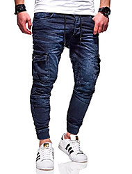 cheap -men's biker jogg jeans trousers rj-3207 (dark blue, w28 / l32)