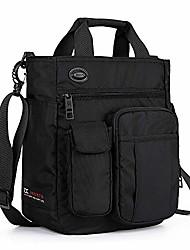 cheap -nylon crossbody messenger bag, multifunctional shoulder bag, laptop bag for men and women sport travel business (black)