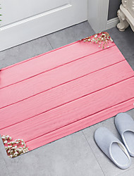 cheap -Pink Wood Plank Flowers Digital Printing Floor Mat Modern Bath Mats Nonwoven  Memory Foam Novelty Bathroom