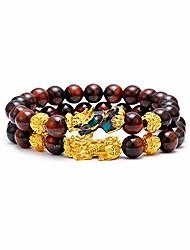 cheap -feng shui good luck bracelets- natural tiger eye stone healing energy pixiu dragon charm beaded bracelet attach wealth money jewelry