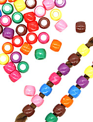 cheap -African Small Transparent Bead Big Braid Jewelry DIY Color Exquisite Big Hole Loose Bead Headdress Plastic Color Mixed Color Beads