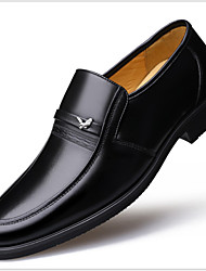 cheap -Men's Oxfords Business Daily Office & Career Walking Shoes Leather Breathable Non-slipping Shock Absorbing Black Fall Winter