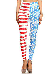 cheap -patriotic usa american flag print high waisted leggings for women (american flag stars, s/m/l)