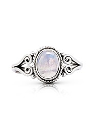 cheap -moonstone small ethnic ring 925 sterling silver tribal gipsy boho us size 6 7 8 (7)