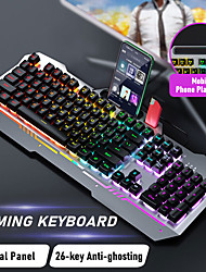 cheap -AULA Wired Usb Mixed Color Luminous Gaming Keyboard Floating Keycap Manipulator K500f Single Keyboard
