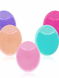 cheap -facial cleansing brush,super soft silicone face cleanser massager brushes manual face scrubber handheld mat scrub exfoliating cleaner for sensitive delicate dry skin,baby hair brush (5 pack set)