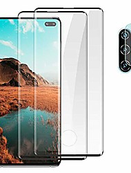 cheap -galaxy note 10 plus screen protector,[2 pack]9h tempered glass, ultrasonic fingerprint compatible, hd clear,bubble-free,3d curved for samsung note10 plus 5g glass screen protector