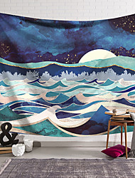 cheap -Wall Tapestry Art Decor Blanket Curtain Hanging Home Bedroom Living Room Decoration Polyester Abstract Mountains Sunrise Sunset Oil Painting Pattern