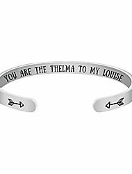 cheap -inspirational cuff the friendship tv show inspired you are the thelma to my louise bangle (you are the thelma to my louise)