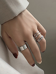 cheap -Ring Vintage Style Silver Alloy Infinity Personalized Simple Fashion 1 set Adjustable Index Finger / Women's / Open Cuff Ring / Adjustable Ring