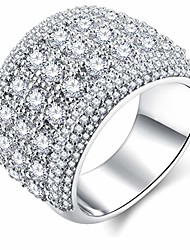 cheap -16mm s925 silver big band luxury cubic zirconia engagement rings for women fashion jewelry for women size 10