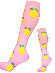 cheap -knee high compression socks for women and men - best medical,for running, athletic, varicose veins, travel (pineapple, l-xl)