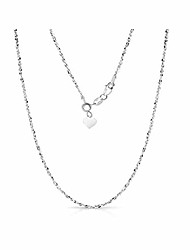 cheap -sterling silver 1.5mm fancy italian adjustable diamond cut twisted serpentine sparkle chain necklace- silver slider necklace 4 colors (silver)
