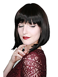 cheap -tie-dye ombre straight short wig dyed batik gradient bob ombre brown black c755
