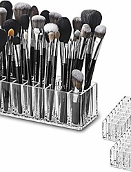cheap -byalegory (set of 2) acrylic makeup brush organizer 24 space storage w/deep slots for cosmetic beauty brushes refillable container - clear