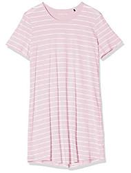 cheap -ladies sleepshirt 1/2 arm, 90cm nightdress, red (pink 504), 38 (manufacturer size: 038)