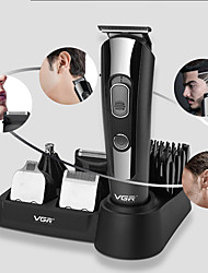 cheap -Multi-function Head-changing Electric Hair Clipper 5 in 1 LCD Digital Display Electric Shaver Engraving Hair Clipper