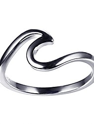 cheap -925 sterling silver wave ring specifically for the girls all, let her show unlimited scenery size 6