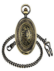 cheap -mens antique mechanical pocket watch lucky dragon retro watch with chain