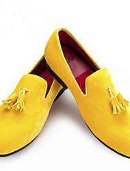 cheap -Men's Loafers & Slip-Ons Tassel Loafers Luxury Tassel Daily Velvet Synthetics Yellow Fall Spring