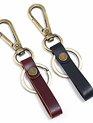 cheap -leather wristlet keychain with extra large ring and belt clip for men key chain organizer holder (2pcs)