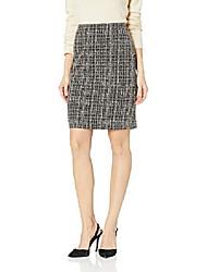 cheap -women's petite knit jacquard slim skirt, toffee multi, 14p
