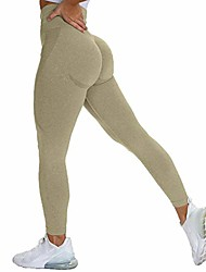 cheap -seamless leggings for women high waist tummy control butt lift yoga pants workout gym smile contour tights grass green s