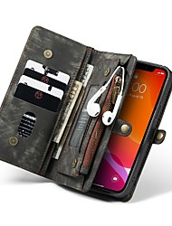 cheap -CaseMe iPhone 12 Series Leather Case Protective Wallet with Removable Magnetic Closure Cell Phone Case Compartments with 11 Card Pockets Zippered Coin Pocket Filp Case for iPhone 12 Pro Max 12 mini