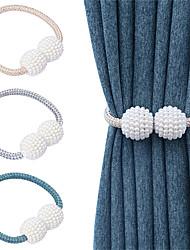 cheap -Tiebacks Curtain Accessories Window Treatments 1 Piece Magnetic Curtain Buckle Rope Decorative Draperies Holdback